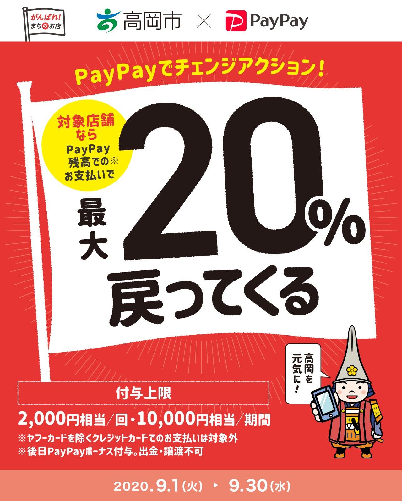 高岡市×PayPay(ペイペイ)20%還元を使ってきた!対象店舗の主なお店は?