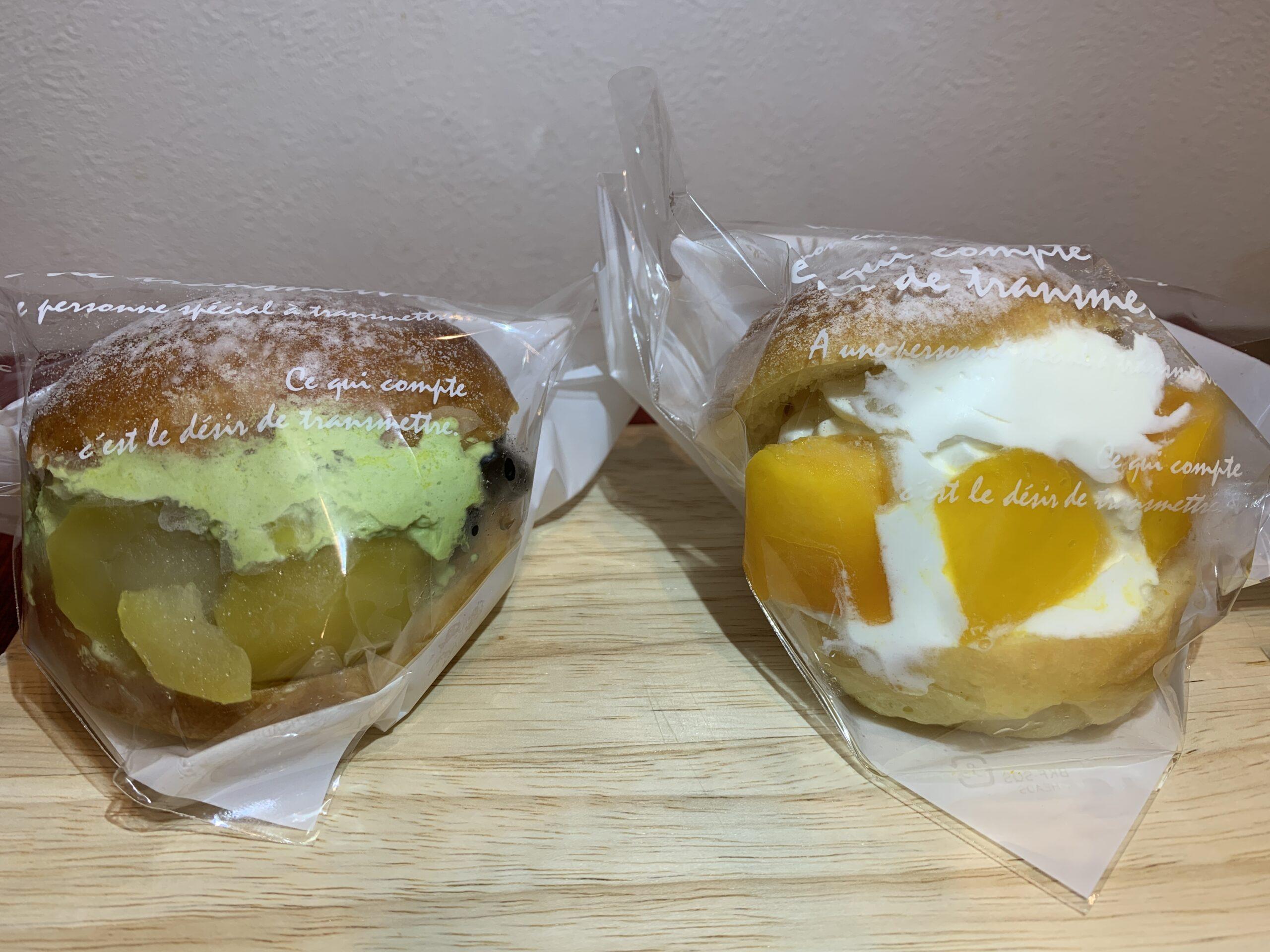 ミッシュローゼのマリトッツオ食べ比べ(抹茶&マンゴー)